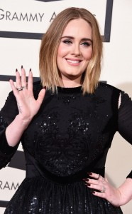 Adele arrives at the 58th Annual Grammys on Feb. 15th in Los Angeles. Photo by Steve Granitz/Wireimage