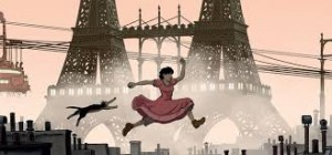 April and the Extraordinary World (Avril et le monde truqué) directors Christian Desmares and Franck Ekinci  adapt Jacques Tardi's graphic novel about a young woman, April (voice of Marion Cotillard), who carries on the research of her scientist parents some ten years after they were abducted from their home.