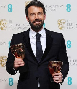 Ben Affleck Wins Main Awards at Baftas 2013.