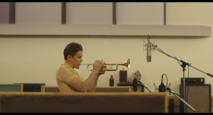 "Writer/director Robert Budreau calls his drama 'Born to be Blue,' about troubled Jazz trumpeter Chet Baker (Ethan Hawke). an ""anti-biopic."""
